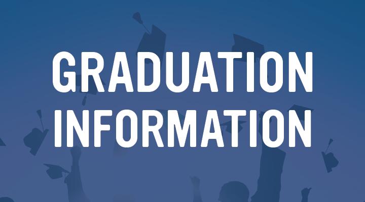 Graduation Informatio on blue background